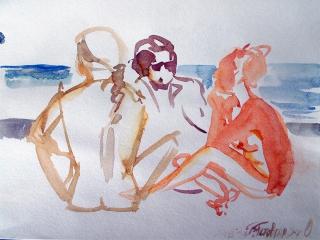 Коктебель. Пляжные наброски № 17