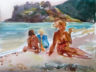 Коктебель. Пляжные наброски № 10