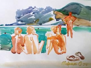 Коктебель. Пляжные наброски № 7