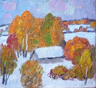 снег в октябре (этюд)