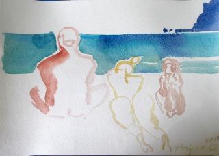 Коктебель. Пляжные наброски № 22