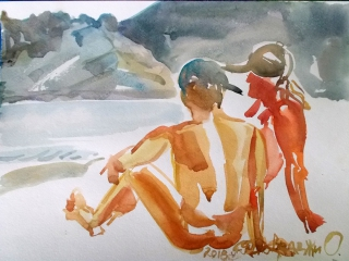 Коктебель. Пляжные наброски № 9