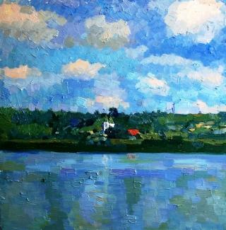 Село на реке
