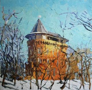 Башня зимой