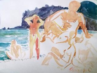 Коктебель. Пляжные наброски № 14