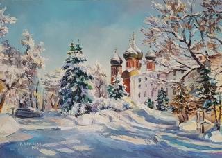Морозное солнце у Покровского в Измайлово