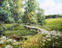 Пейзаж с мостиком