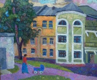 Московский дворик ( этюд )