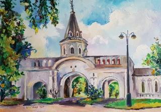 Главные въездные ворота в усадьбе Измайлово
