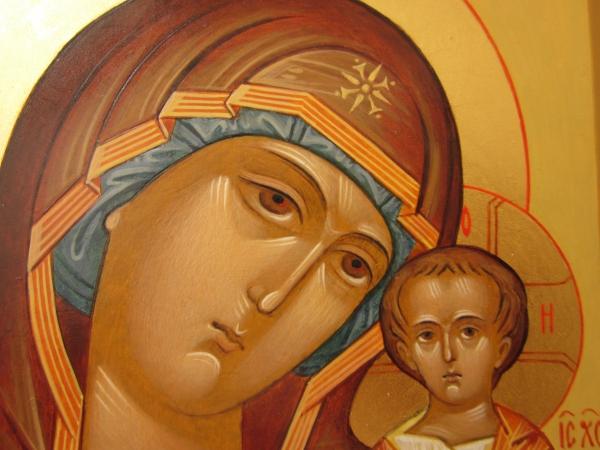 Казанская Богородица(фрагмент)
