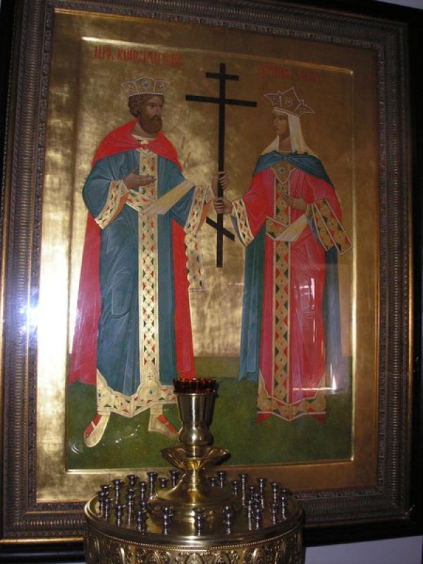 св.равноапостольные царь Константин и царица Елена