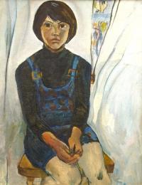Портрет черноглазой девочки