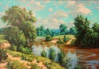 Летний пейзаж. Копия с картины С.Басова