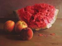 Арбуз и три персика