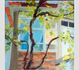 Виноград у окна