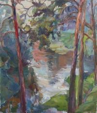 Сосны на реке Клязьма
