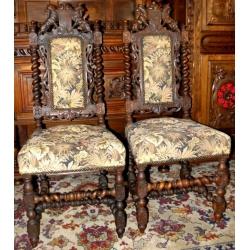Пара мягких стульев в стиле Ренессанс