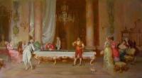Бильярд. Копия с картины Ф.Беда