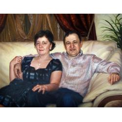 портрет семейной пары.