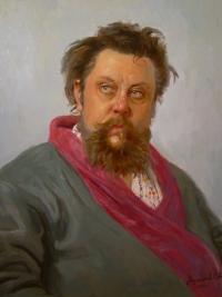 Портрер Мусоргского. Копия с картины И.Репина