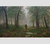 копия с картины И.И.Шишкина Дождь в дубовом лесу.