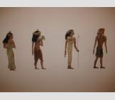 Египетские фигурки . Цветное стекло глазурь . сзади петельки для гвоздя
