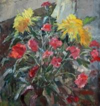 Желтые и розовые цветы