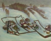 Зимняя деревня.