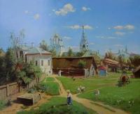 Московский дворик. Копия с картины В.Поленова