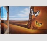 Пейзаж с бабочками (копия С.Дали)