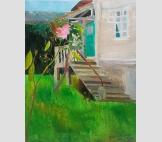 Абхазия. Трава у дома