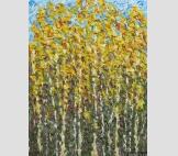 Картина Березовая роща Осень абстракционизм