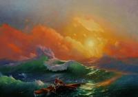 Девятый вал. Копия с картины И.Айвазовского