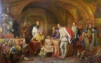 Иван Грозный показывает сокровища английскому послу Горсею. Копия с картины А.Литовченко