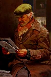 Старик с газетой