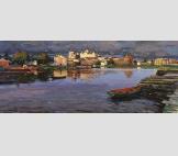 Соловецкий монастырь.Холст,масло 43,8 # 105,3 см.2014