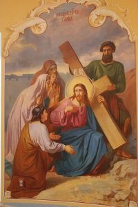 Несение Креста. Роспись в храме