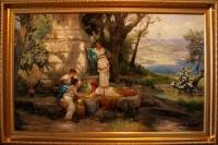 """Копия картины Генриха Семирадского """"Игра в кости"""""""