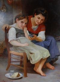 Две девочки. Копия с картины В.Бугро