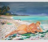 Роскошная на пляже