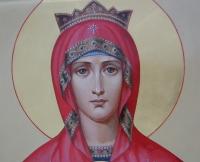 """Пресвятая Богородица""""Неупиваемая чаша""""(фрагмент)"""