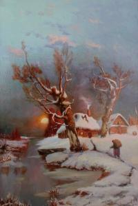 Закат. Копия с картины Ю.Клевер