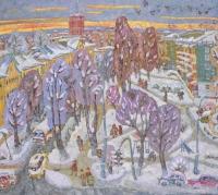 Зима в провинциальном городе