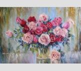 Розы в дождливый день