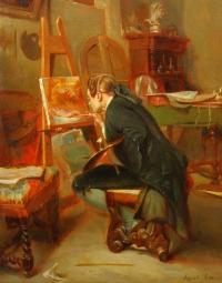 Любитель живописи. Копия с картины Э.Мессанье