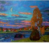 Осенний вечер на реке