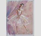 Картина на шелке Маленькая Балерина