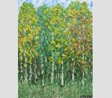 Картина Березовая роща Осень