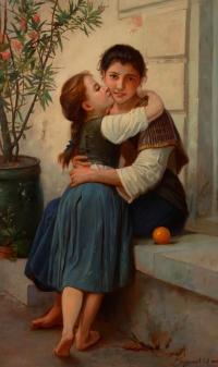 Две сестры. Копия с картины В.Бугро