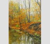 Осень,ручей в лесу
